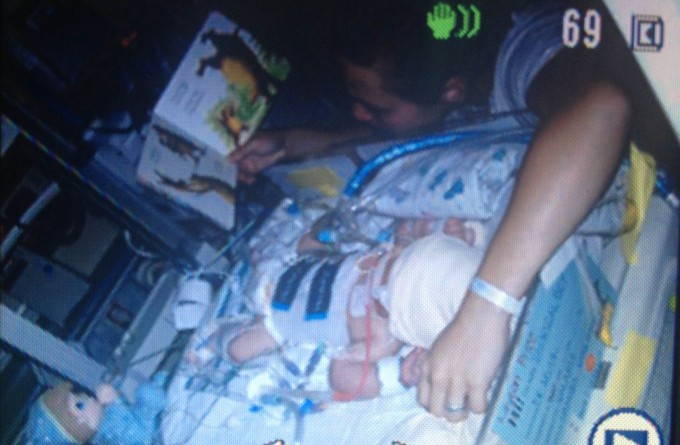 Baby Layton in the hospital